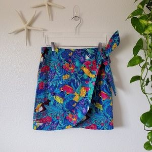 Dresses & Skirts - Parrot Wrap around Skirt